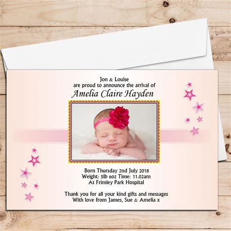 baby announcement cards template free birth announcement cards baby announcement cards