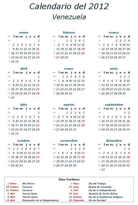 El Calendario 2012 Calendario 2012