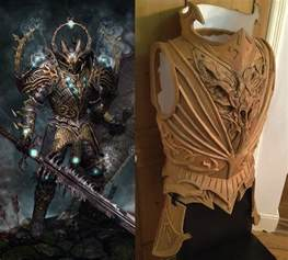 warhammer chaos knight armor made from worbla 171 adafruit