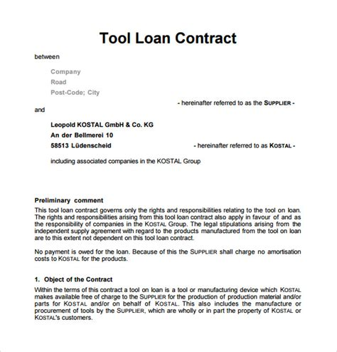 sle loan contract templates 10 free documents in pdf