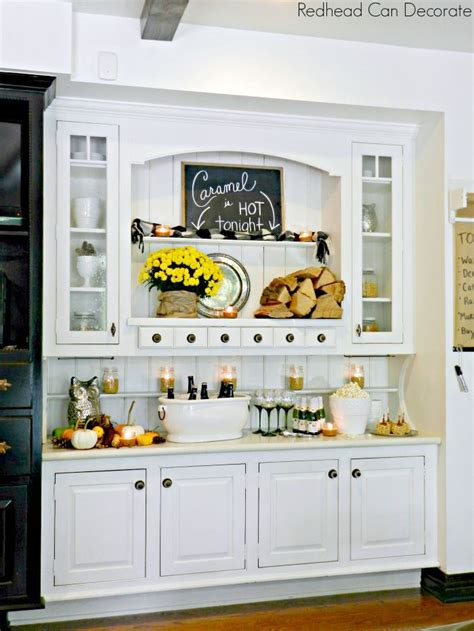 kitchen hutch decorating ideas rustic autumn hutch can decorate