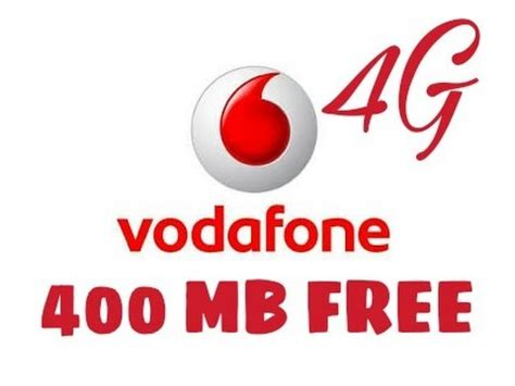 mobile data vodafone get free 400 mb mobile data for vodafone users