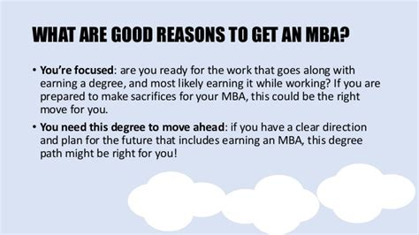 Bad Reasons To Get An Mba by Is An Mba Right For You