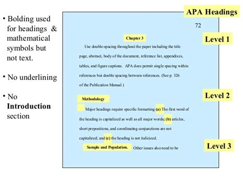 which main section does the heading declared major fall under apa advanced lr