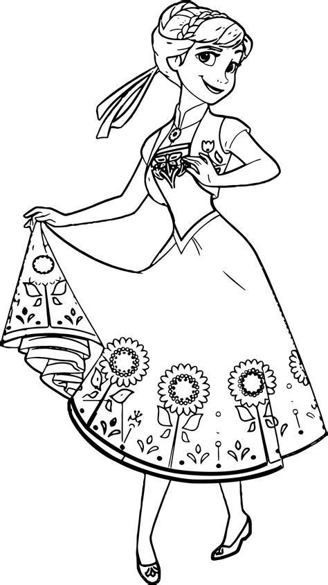 beautiful coloring pages beautiful flower skirt coloring page wecoloringpage