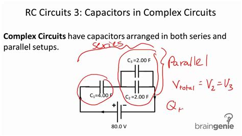 what capacitor does in circuit 6 3 4 rc circuits 3 capacitors in complex circuits