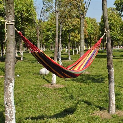fabric hammock swing portable cotton rope hammock swing fabric cing hammock