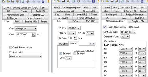 membuat jam digital dengan bascom avr jam digital lcd dengan i2c ds 1307 cavr atmega 32