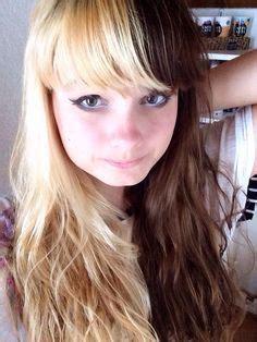 half blonde half brown hair white hair black hair and hair on pinterest