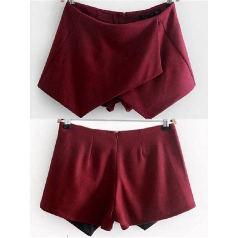 skirt wine color burgundy shorts wine colored