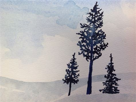 acrylic painting evergreen trees evergreen paintings