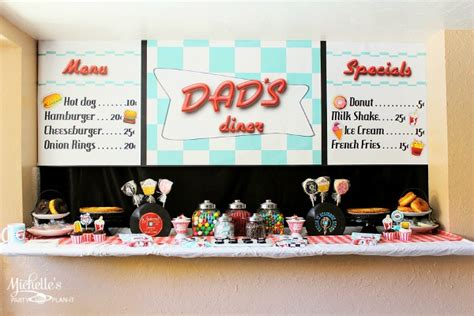 Kitchen Backdrop retro diner party for father s day moms amp munchkins