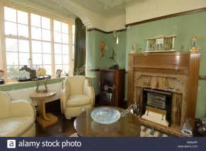 1930 home interior refurbished deco 1930 s house interior lounge living room stock photo royalty free image