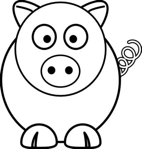 pig coloring page preschool simple pig coloring pages preschool art basics pinterest