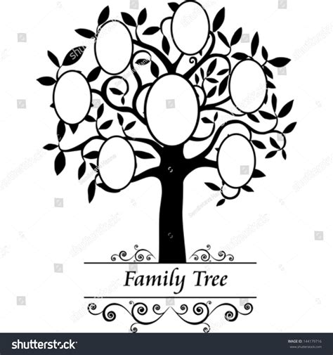 Family Tree Frames Empty Your Input Stock Vector 144179716 Shutterstock Family Tree Template Vintage Vector Illustration Stock Vector 674744272