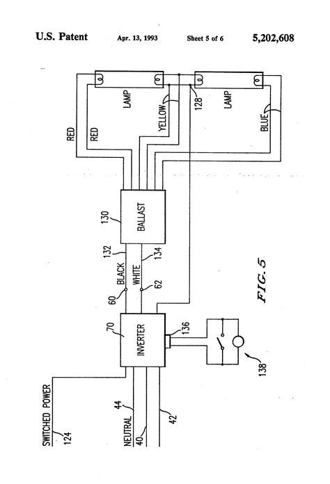 fluorescent light wiring schematic free wiring