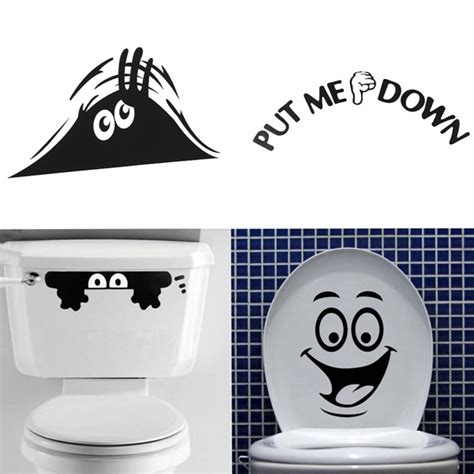 funny bathroom stickers best promotion smiley face funny toilet bathroom decal