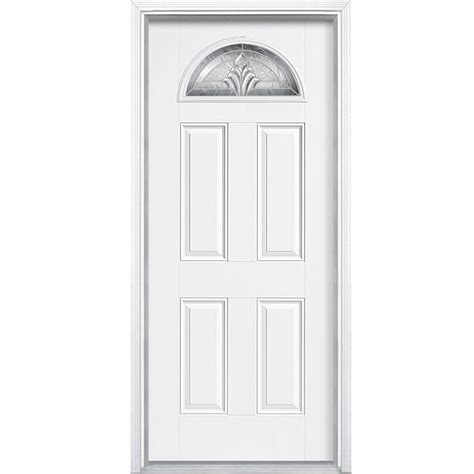 Masonite 36 In X 80 In Providence Fan Lite Primed Smooth Masonite Fiberglass Exterior Doors