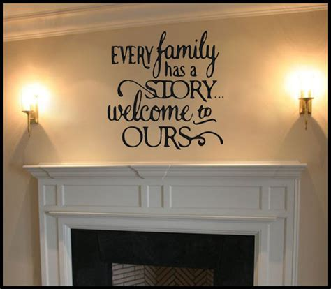 family   story vinyl wall decal living room