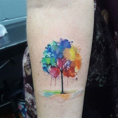 watercolor tree tattoo on arm best tattoo ideas gallery