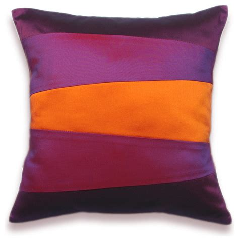 houzz pillows decorative pillow 16 in in orange purple and