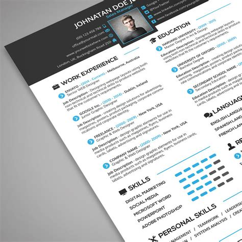Resume Portfolio by Creative Resume Cover Letter Portfolio 3 In 1 Psd