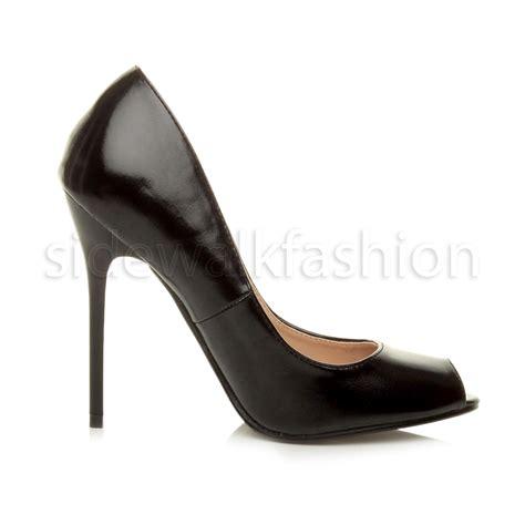 Peep Toe High Heel Pumps womens high heel peep toe shoes court smart