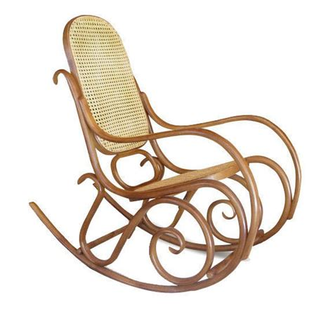 White Wood Rocking Chair Thonet Bentwood Rocking Chair Signed At 1stdibs