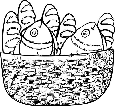 coloring pages of fish and bread five loaves and two fishes coloring sheet coloring page