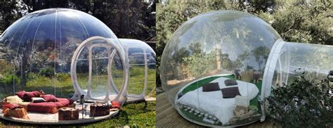 bubble tent connect with nature from your own bubble tent