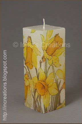 candele decoupage inna s creations easy to make decoupage candles