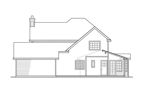 garage architectural plans country house plans atkinson associated designs plan with detached garage 30 060 rear