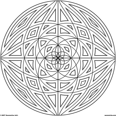 circle mandala coloring page detailed coloring pages for adults geometrip com free