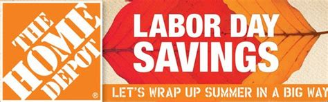 home depot labor day sale 2014