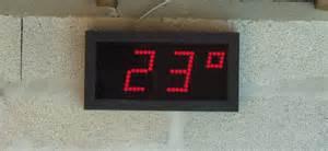 r 233 alisation d un thermom 232 tre 224 affichage digital g 233 ant