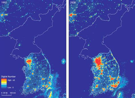 Korea Light one map that shows just how poor korea is vox