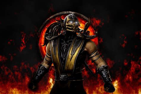 mortal kombat game wallpaper mortal kombat scorpion wallpapers wallpaper cave