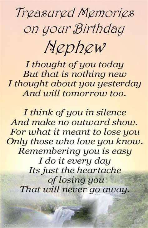 Inspirational Birthday Quotes For Nephew A Nephew No64 Bereavement Graveside Memorial Keepsake