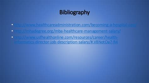 Salary Mba Healthcare Administration by Healthcare Management Powerpoint