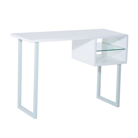 Homcom Contemporary Writing Desk White Home Clearance Writing Desk White