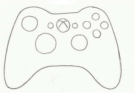 Coloring Page Xbox Controller by Controller Xbox Cookie Cutter Flickr Photo