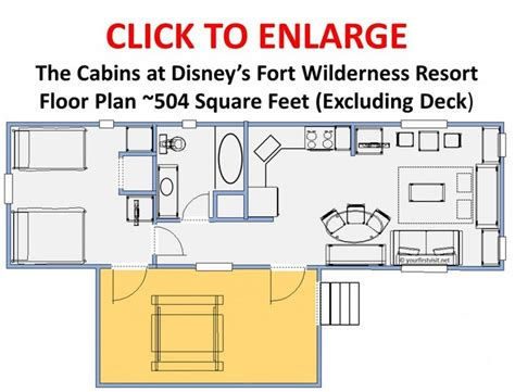 disney world floor plans review the cabins at disney s fort wilderness resort