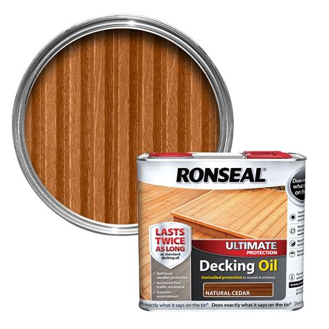 ronseal ultimate natural cedar decking oil