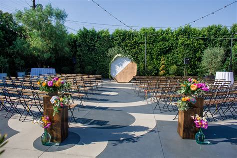 the fig house colorful la wedding at the fig house ruffled