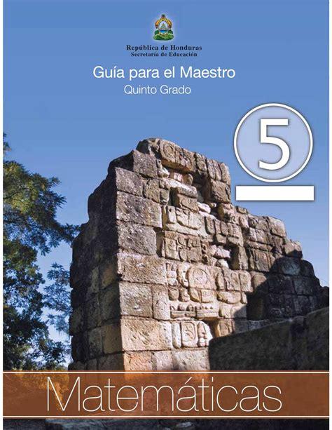 nuevo libro para el maestro matemticas 2 grado sep calam 233 o 5to grado guia del maestro matematicas