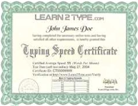 typing certificate template get typing certificate typing test speed