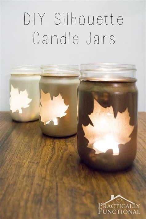 diy silhouette porta velas jars and on