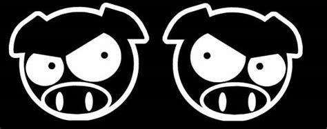 Jdm Sticker Angry Pig jdm mad pig car windows bumper vinyl sticker decal