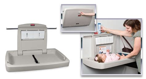 Baby Change Table Commercial Baby Changing Stations Antimicrobial Protection Johns Sanitation