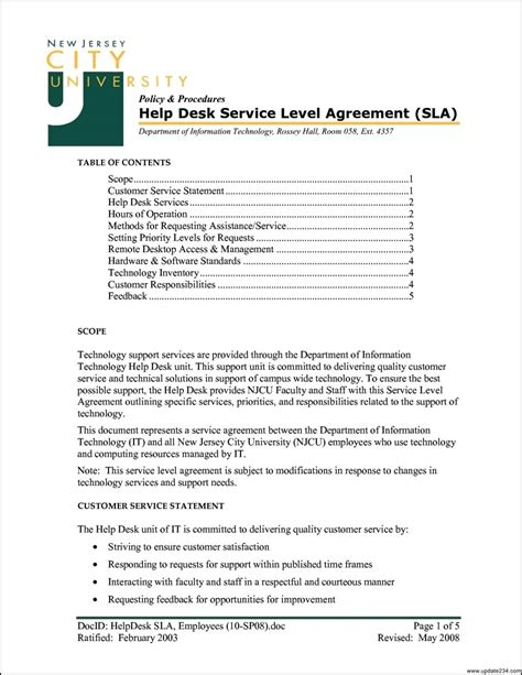 operating level agreement template operating level agreement template 28 images operating